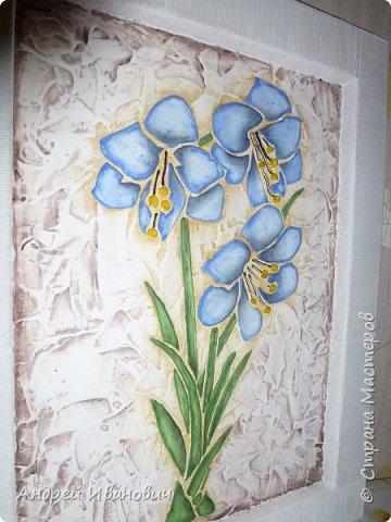 Рамка декорирована шпагатом Изображение и фон ---- шпатлёвка Раскрашено гуашью размеры 48х39 фото 3
