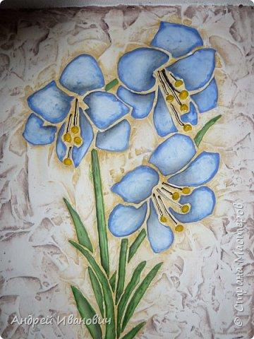 Рамка декорирована шпагатом Изображение и фон ---- шпатлёвка Раскрашено гуашью размеры 48х39 фото 4