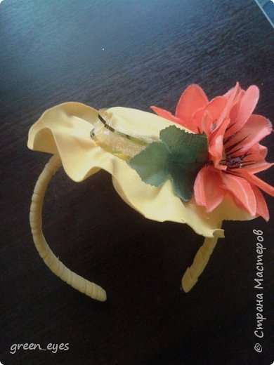 Шляпка - ободок для маленьких модниц фото 2