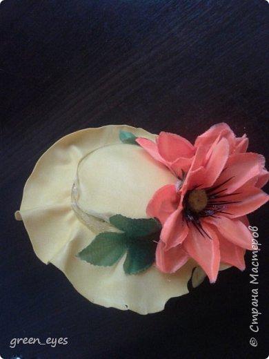 Шляпка - ободок для маленьких модниц фото 1