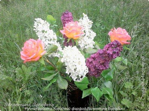 Добрый день дорогие жители Страны Мастеров!!!!Я решила продлить цветение сирени и слепила букет. фото 12