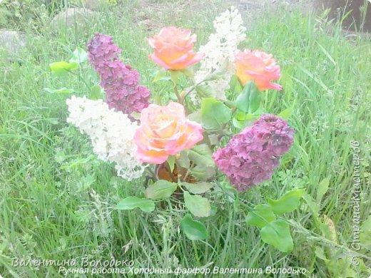 Добрый день дорогие жители Страны Мастеров!!!!Я решила продлить цветение сирени и слепила букет. фото 5