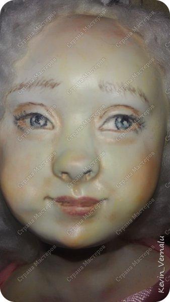 Кукла создана с большими усилиями...По мотивам кукол Долькирадуги,она же Машери,она же Кира Сашина,и Кира Кинаш.Теперь и у меня дома живет эта радость...Буду стремиться создавать еще больше такой красоты:-).Не скромно.... фото 2