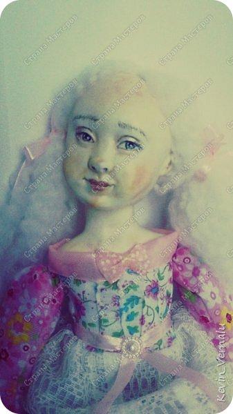 Кукла создана с большими усилиями...По мотивам кукол Долькирадуги,она же Машери,она же Кира Сашина,и Кира Кинаш.Теперь и у меня дома живет эта радость...Буду стремиться создавать еще больше такой красоты:-).Не скромно.... фото 1