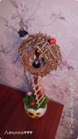 Птичье гнездо из палочек фото 3