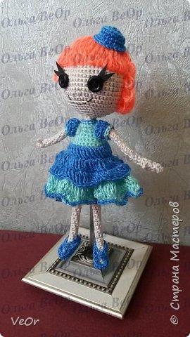 Лалалупси делала на заказ. Попросили рыжие волосы и каре. Когда завершила куколку, поняла, что ей просто необходима шляпка )) фото 2
