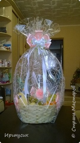 Декор корзины с экзотическими фруктами  для подарка на день рождения))) фото 1