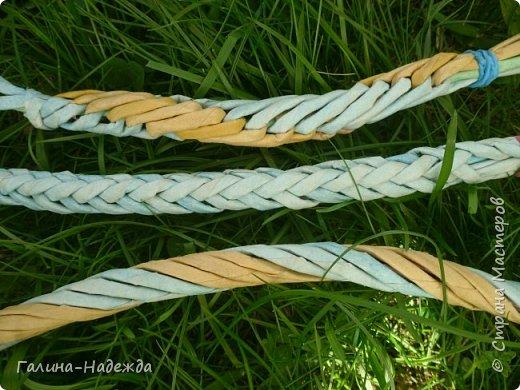 Добрый день дорогие жители СМ!!!! Хочу показать свои новые работы. Как только мне подарили овальное ведро как основу для плетения, мои работы теперь пока вот такой формы и она мне очень нравится. фото 25