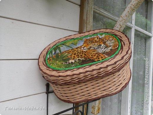Добрый день дорогие жители СМ!!!! Хочу показать свои новые работы. Как только мне подарили овальное ведро как основу для плетения, мои работы теперь пока вот такой формы и она мне очень нравится. фото 18