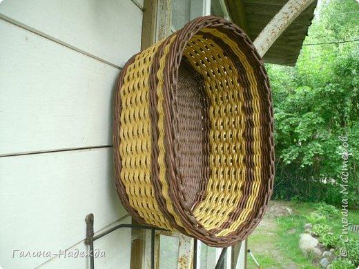 Добрый день дорогие жители СМ!!!! Хочу показать свои новые работы. Как только мне подарили овальное ведро как основу для плетения, мои работы теперь пока вот такой формы и она мне очень нравится. фото 11