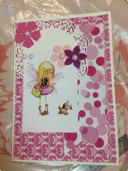 В понедельник я проводила занятие в детском центре. Делали мы открыточку с феечками Марины Федотовой. Открытка двойная с внутренним, хоть и минимальным оформлением. фото 8