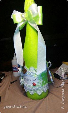 оформление бутылки к празднику фото 3