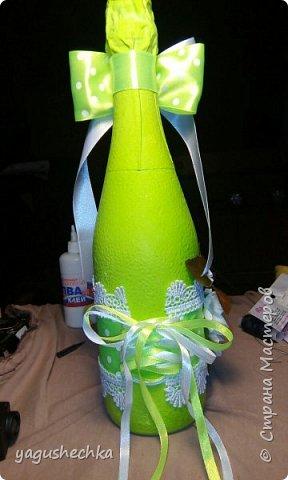 оформление бутылки к празднику фото 2