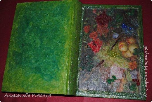 """Основа:ежедневник,обклеян """"двуниткой"""",покрыт белилами,на клей ПВА наложена рисования бумага (или декоративная для скрапбукинга) с изображением.Для декорирования использованы различные материалы фото 14"""