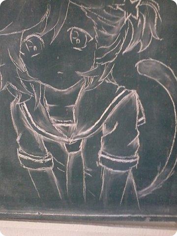"""Все началось с того, что нас с Мариной оставили дежурными)))))))))))) Марина, кстати, тоже есть в стране мастеров. Она - Маритаими Тэцуя. Это рисовала я. Арт - Миказе Аи из аниме """"Поющий принц"""". фото 3"""