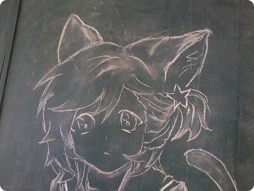 """Все началось с того, что нас с Мариной оставили дежурными)))))))))))) Марина, кстати, тоже есть в стране мастеров. Она - Маритаими Тэцуя. Это рисовала я. Арт - Миказе Аи из аниме """"Поющий принц"""". фото 2"""
