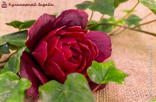 Роза из свеклы.