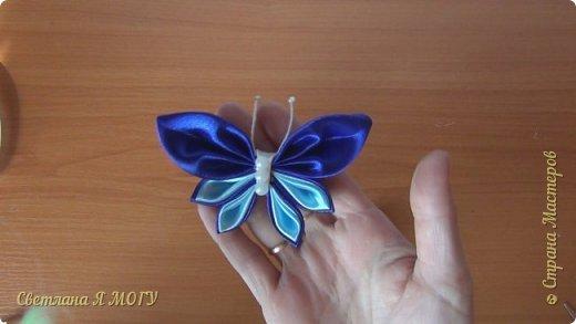 Сегодня хочу представить Вашему вниманию сразу два МК в одном видео. Бабочка из атласных лент и бабочка из ткани. фото 2