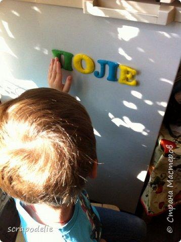 В День Защиты Детей хочу предложить вам позаботится о ваших малышах, помочь им в обучении чтению и просто сделать красивую работу. Давайте сошьем магнитный фетровый алфавит. Детки будут развивать моторику, учить буквы и составлять слова. Для изготовления алфавита нам потребуется:  1)      5 листов фетра размером 30х30 (или 6 формата А4). Лучше взять разный цветов, тогда алфавит будет интереснее, и ребенок более охотно будет играть с ним.  2)      Нитки в цвет фетра  3)      Неодимовые магниты (гибкие магниты не подойдут совсем, ферритовые магниты тоже слабоваты. Я использовала их, но пришлось использовать по 3-5 штук на 1 букву, чтобы они держались на холодильнике) по 1-2 шт на букву.  4)      Холлофайбер или другой наполнитель (у меня ушло в пределах 50 грамм).  5)      Плоттер ScanNCut (если такового нет, то ножницы)     Приступим? фото 17