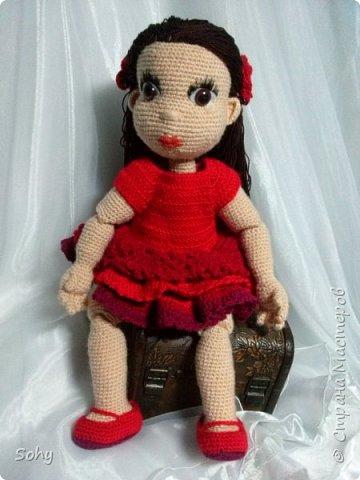 вязаная шарнирная кукла фото 2