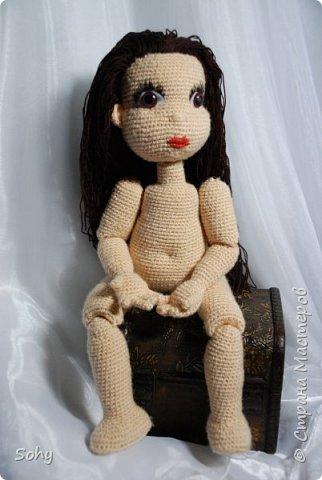 вязаная шарнирная кукла фото 3