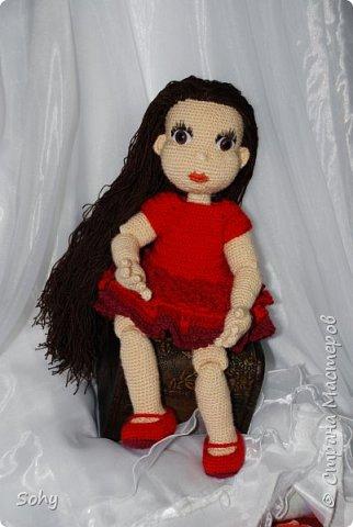 вязаная шарнирная кукла фото 1