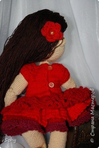 вязаная шарнирная кукла фото 5
