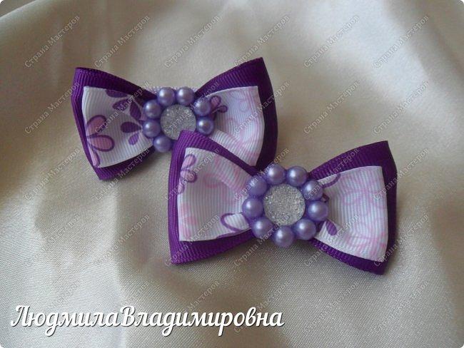 Наш парад бантиков открывают фиолетовые)))) фото 1