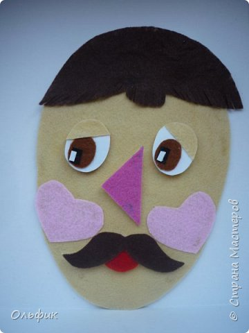 Вот такой клоун получился! Идея проста - ребенок меняет части лица, получается совсем другой человечек! фото 6
