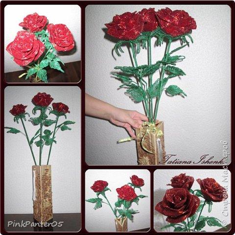 Розы в подарочном коробе фото 2
