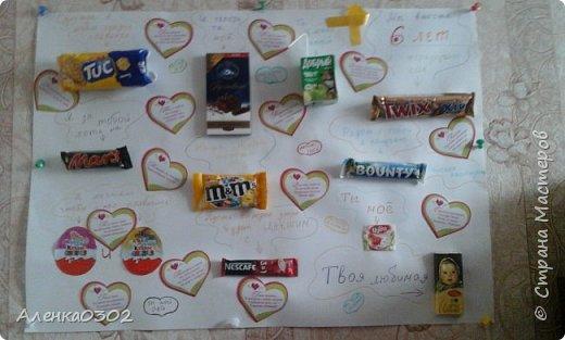 плакат-открытка признание со сладостями