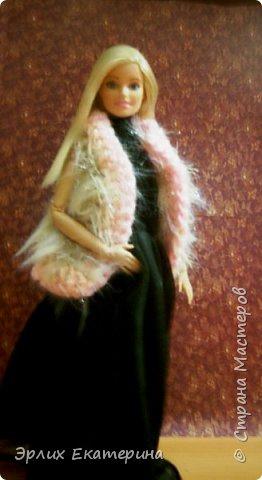 Барби - Китнес  Платье розовое с белым , на липучке  фото 2