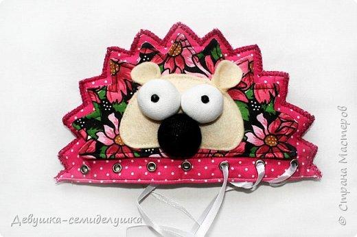 Развивающая игрушка-матрешка «Семейка Ежиков» (по весенней швейной авантюрке Любови Дальновой) фото 5