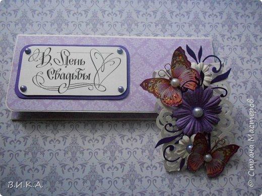 свадебный конверт и коробочка. фото 2