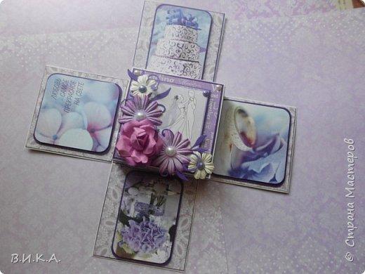 свадебный конверт и коробочка. фото 3