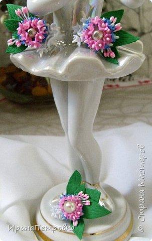 Серьги-гвоздики и кольцо из фоамирана. фото 1