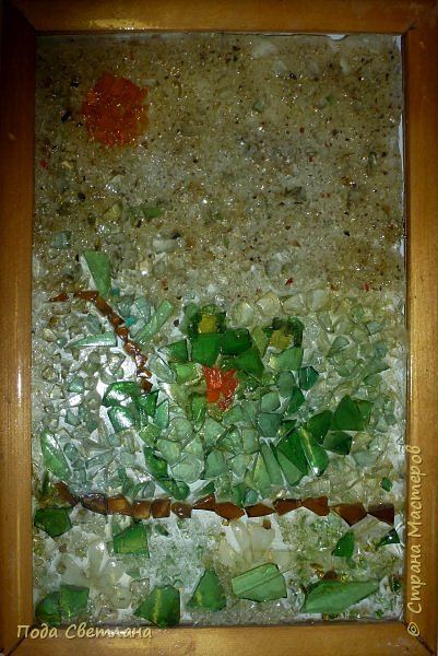Опять антивкариат!!! Первая мозаика ...Стекло на стекле... С чего мы только начинали!!! Жаль на фото не так выглядят в живую лучше... фото 4