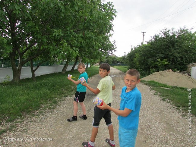 Добрый день!  Сегодня мой сынуля, мой крестник и их друг  делали себе шуточные стрелялки-пулялки, под моим руководством....  фото 11