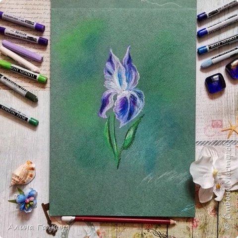 Вот такой простенький цветочек будем рисовать. фото 1
