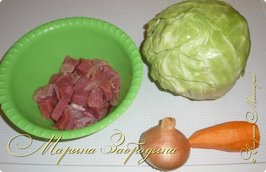 Тушеная капуста с говядиной - очень сытное второе блюдо, которое является самостоятельным и не нуждается в гарнире. Капуста в данном рецепте получается нежной и сочной, а мясо - невероятно мягким и вкусным. Приготовим? фото 2