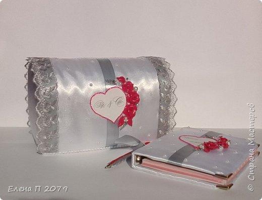 Всем доброго времени суток! Вот такой свадебный наборчик сделала на свадьбу сестре. Свадьба в малиново-серых оттенках. Делала впервые, но думаю все получилось.  Главное, сестра в полном восторге. фото 4