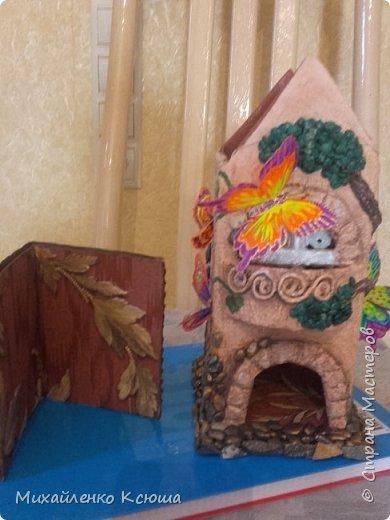 Трудновато мне пришлось создовая этот домик, впервые я взялась за это дело; фото 8