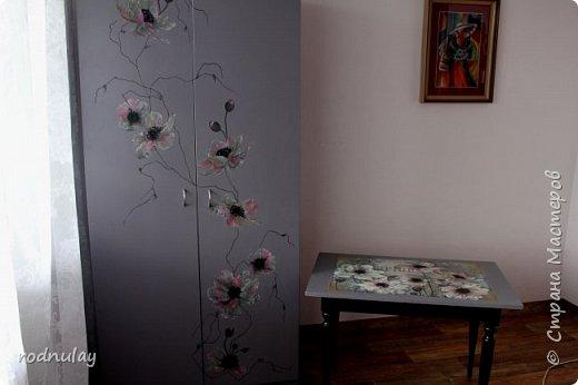 Решила обновить шкаф. Не то чтобы он был старый. Скорее скучный.  Получился вот такой, на  мой вкус - замечательный! фото 4