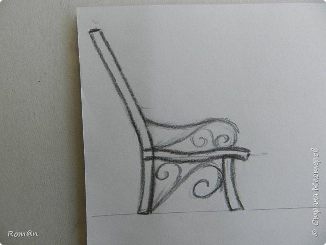 Добрый день жители Страны Мастеров.Работа с домом тыквой затянулась,поэтому хочу представить небольшую мою работу, уличную скамейку.Она кстати,часть работы из дома тыквы. фото 4