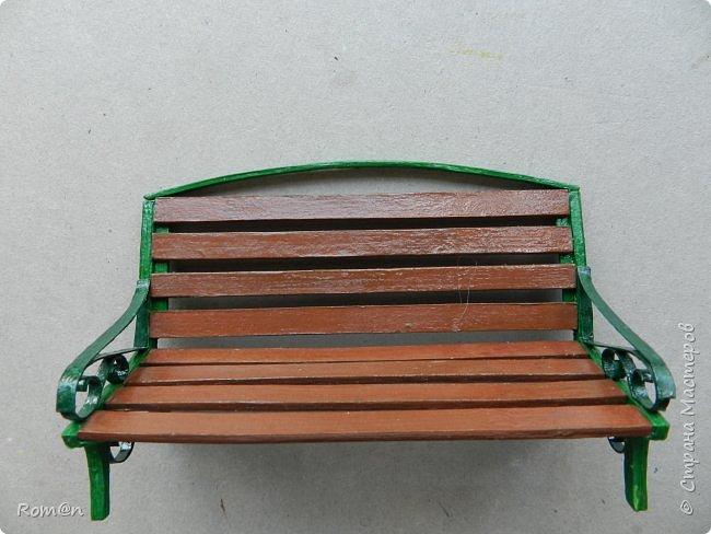 Добрый день жители Страны Мастеров.Работа с домом тыквой затянулась,поэтому хочу представить небольшую мою работу, уличную скамейку.Она кстати,часть работы из дома тыквы. фото 20