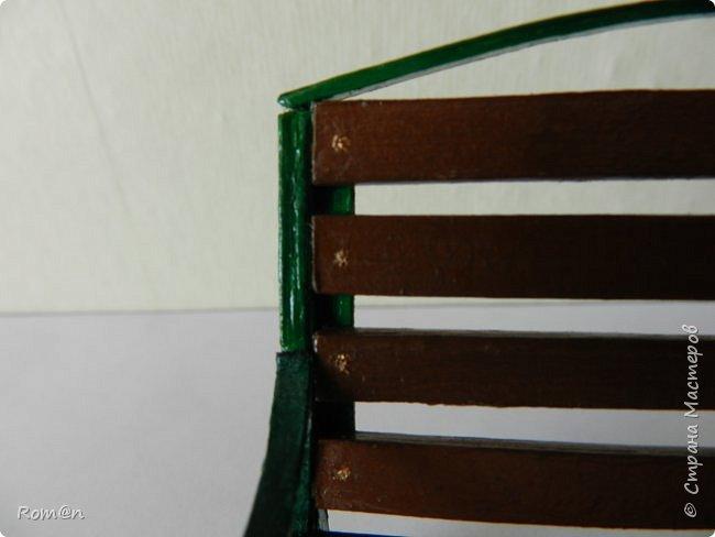 Добрый день жители Страны Мастеров.Работа с домом тыквой затянулась,поэтому хочу представить небольшую мою работу, уличную скамейку.Она кстати,часть работы из дома тыквы. фото 25