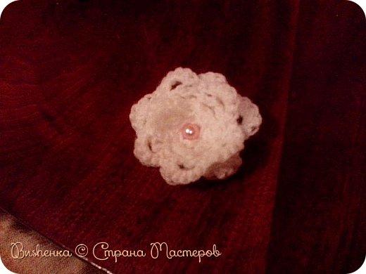 Всем доброго времени суток!!! Сегодня опять хвастаюсь...цветочком! Цветочек нашла на сайте crochet-story.ru , а ссылочку не припомню. фото 1
