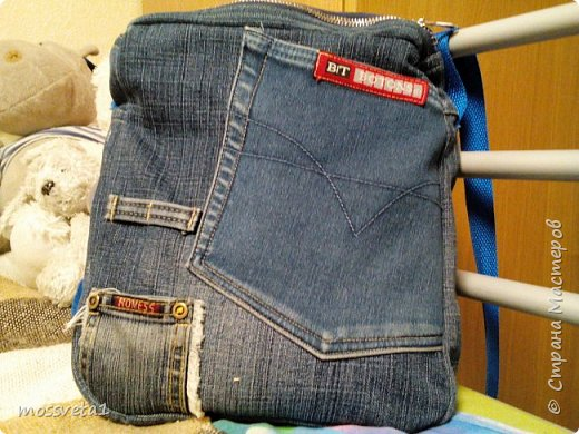 Вот и дождались ненужные джинсы своего часа))) Органайзер для мальчишек. Вдохновилась работой Евгении Карташовой. фото 5