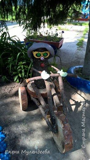 Всем привет. Вот такой дачник на велике получился у нас на даче для детского садика. фото 1