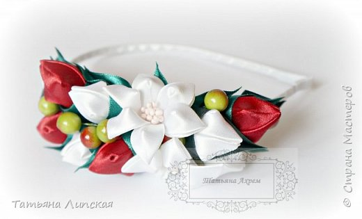 Всем привет!  Поздравляю всех с наступлением лета!) Сегодня хочу поделиться мастер-классом ободка с бутонами и ягодками https://youtu.be/G81aTs6XArg . фото 4